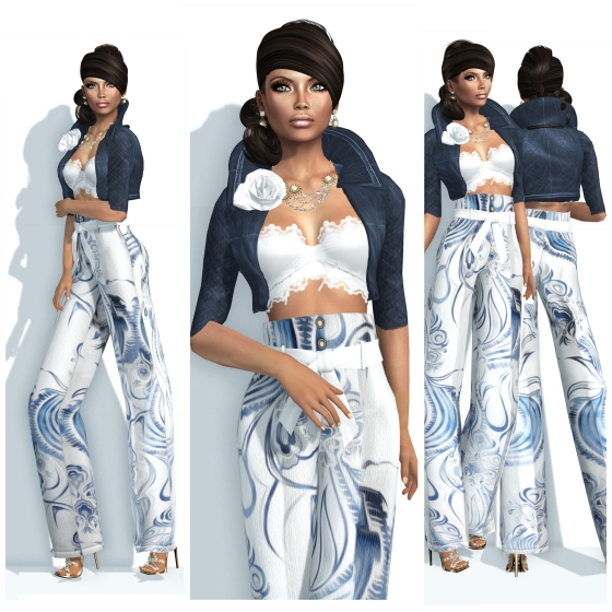 Indyra Originals Dominga Pants Suits Set