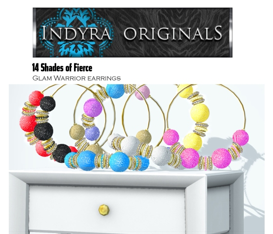 Indyra Originals Glam Warrior Hoops -14 Pack