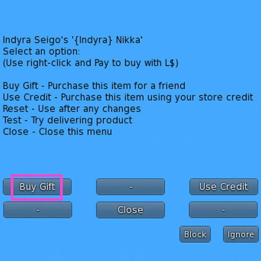 blue menu- Buy Gift