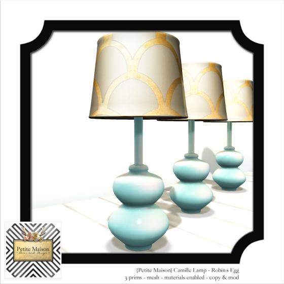{Petite Maison} Camille Lamp in Robin's Egg