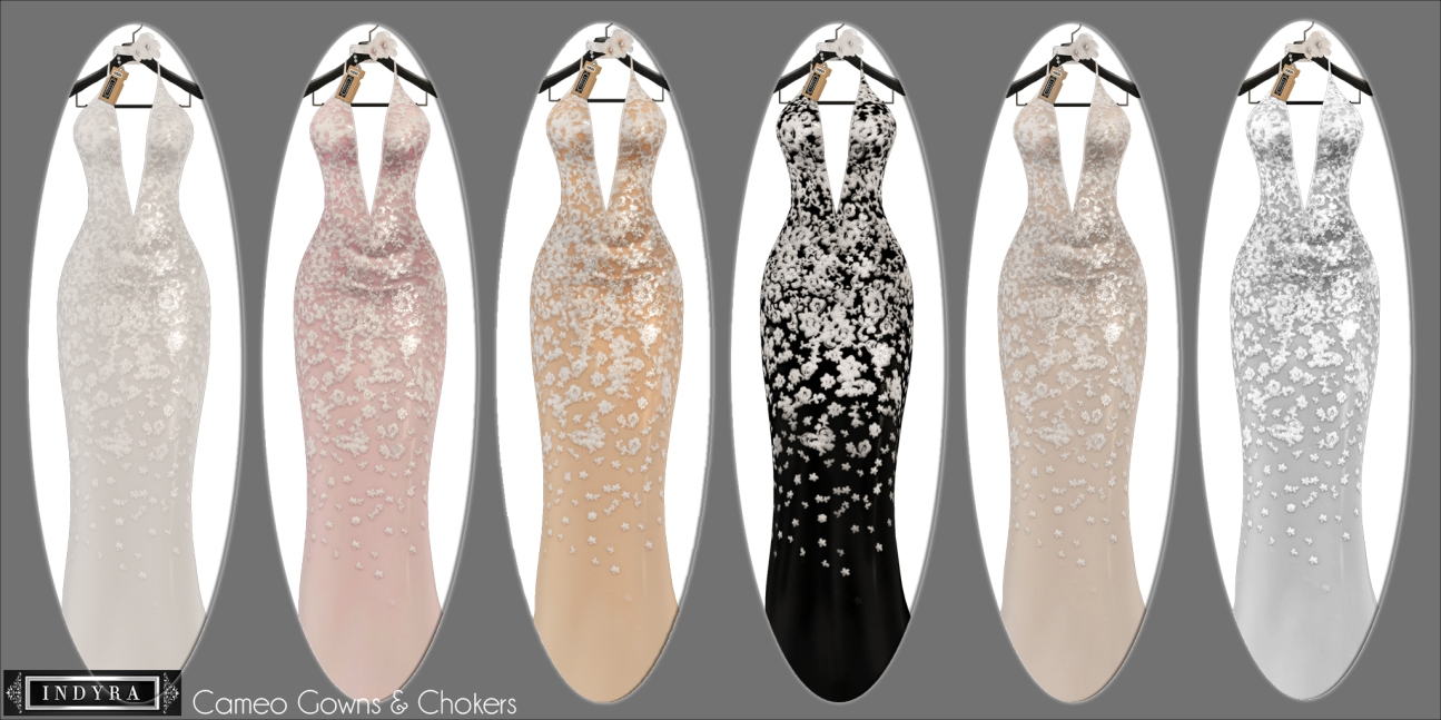 {Indyra} Cameo gown colors
