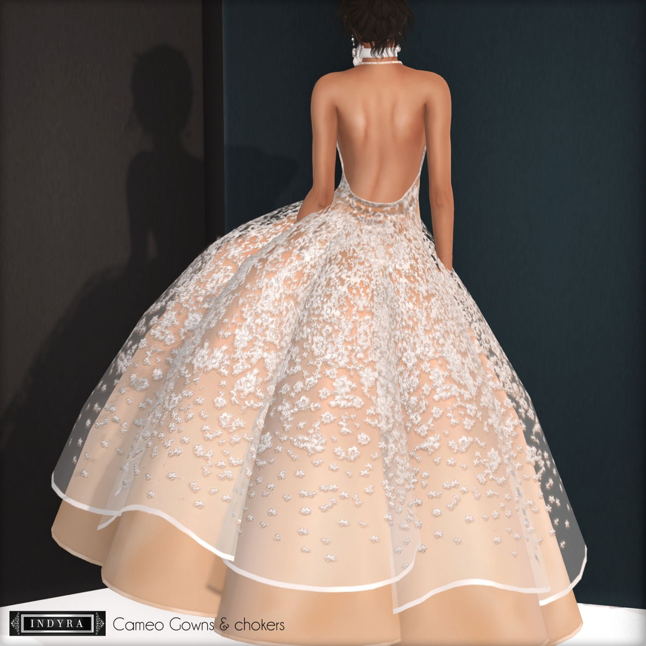 {Indyra} Cameo Gown version 2, back view